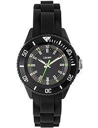 s.Oliver Time Unisex Kinder Analog Quarz Uhr mit Silikon Armband SO-3636-PQ