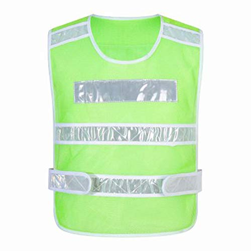 CRRQQ Reflektorweste - Warnwesten, reflektierende Westen für Nachtaktivitäten im Freien oder Bauarbeiter-Kostüm (Color : Fruit Green)