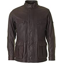 Barbour Hurricane Leather Jacket, Brown