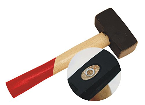 Fäustel 1500g Sicherheits Handfäustel abgerundet 1500 g Kopfgewicht ca. 252 mm Länge Komforgriff Stahlguss Kopf