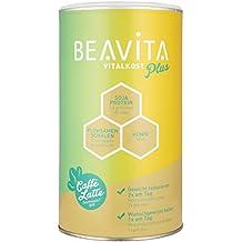 BEAVITA Vitalkost Plus - Caffè Latte | 1 x 572g Milchkaffee Pulver I Der leckere Diät-Shake für unbeschwertes Abnehmen | Reicht für 10 Shakes/Mahlzeiten
