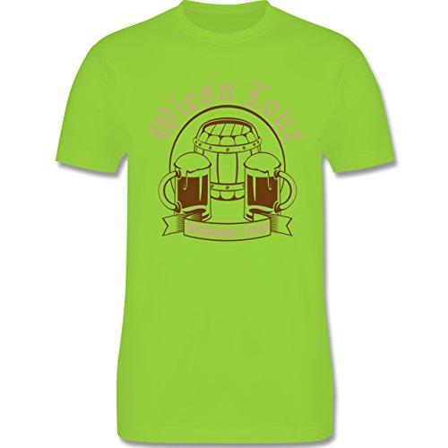 Oktoberfest Herren - Wiesn Tour Drinking Team - Herren Premium T-Shirt Hellgrün