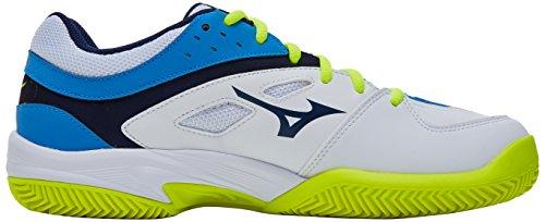 Mizuno Break Shot Ex CC, Scarpe da Tennis Uomo Multicolore (White/Blue 14)