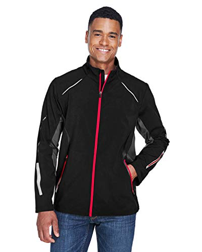Ash City - North End Pursuit 3-Layer Light Bonded Hybrid Soft Shell Jacket with Laser Perforation (88678) -BLK/OLY RE -4XL Hybrid Soft Shell Jacket