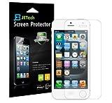 JETech Schutzfolie für iPhone SE, iPhone 5s und iPhone 5, PET Displayschutzfolie, HD Klar, 3 Stück