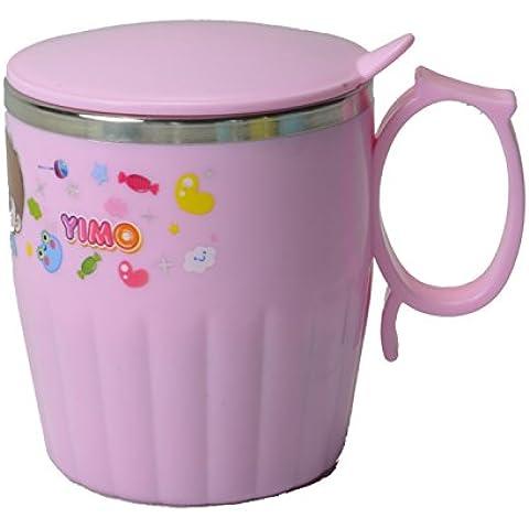 oumosi 300ml Cartoon Acero inoxidable taza de niños con tapa