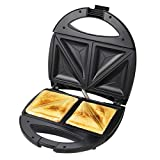 BAJAJ VACCO 750 watt Non-Stick Crispy Sandwich Toaster for Multi Snacks with Fixed Plate (Black)