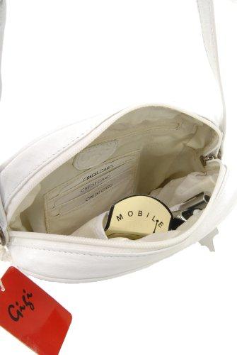 Umhängetasche Klein Leder von Gigi - GRÖßE: B: 18 cm, H: 18 cm, T: 6 cm Weiß