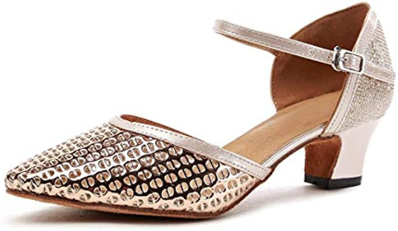 Fuxitoggo GL260 Wouomo Pointed Toe Champagne Sintetico Ballroom Latin Latin Latin Dancing scarpe Evening Pumps UK 2.5 (Coloreee...   Materiale preferito    Uomini/Donna Scarpa  44e2e5