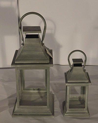Schickes Laternen 2er Set aus Metall - modern und kolonial
