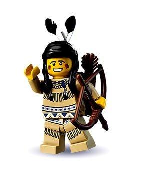 Lego Minifigur Sammel Objekt rarität Indianerin mit Bogen Pfeil Kopfschmuck (Bogen Pfeil Lego Und)