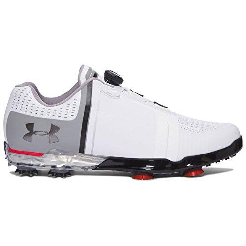 Under Armour Spieth One Boa Golf Schuhe, Herren, White/Steel/Red (Herren Wasserdicht Schuh Golf)