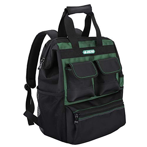 Baffect Tool Backpack mit Werkzeug Organizer, Elektriker Werkzeugtasche Quick Access Tool Backpack Handwerker Organizer Bag Techniker Tasche für Elektriker Techniker (Grün) -