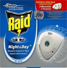 Raid night & day 2recharges moustique Tigre et communes