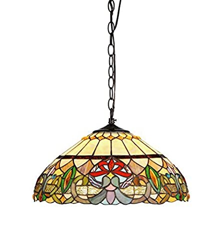 Chloe Lighting CH33360VR18-DH2 Hester Tiffany Style Victorian 2 Light Ceiling