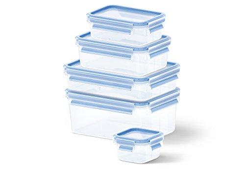 p & Close, Plastik, Transparent / Blau, sortiert  Größen, Packung mit 5 Boxen ()