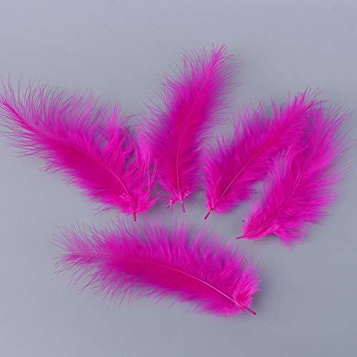 Qiterr 200Pcs Feather Decoration, Fluffy Marabou Feathers-Karte, die Verzierungen in der Wahl der Farbe herstellt