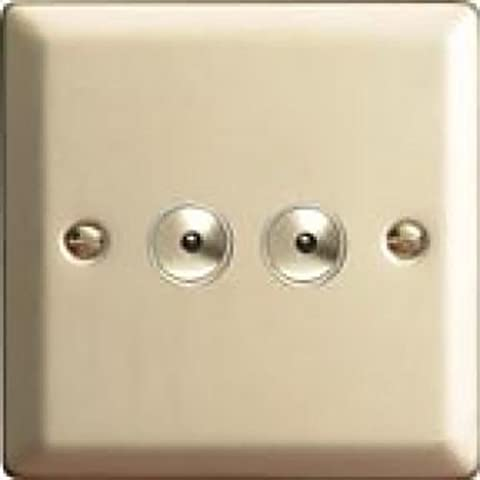 Varilight Satin Chrome Classic V-Pro IR 2 Gang 2 x 100W LED Multi-Way Remote/Touch Control Dimmer Master