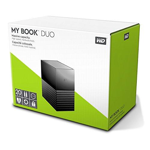 WD 20 TB My Book Duo Desktop Hard Drive - Black
