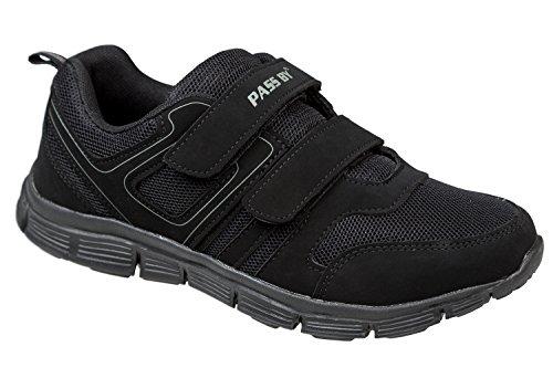 GIBRA® Damen Sportschuhe mit Klettverschluss, schwarz, Gr. 36-41 Schwarz