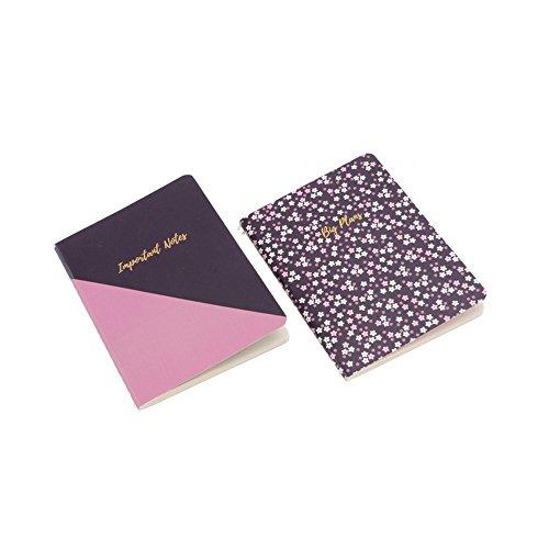 CGB - Set de 2 Cuadernos A6 para Notas (única) (Oscuro/Rosa)