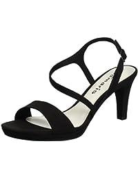 Tamaris Damen 28318 Offene Sandalen mit Keilabsatz