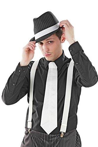 Preisvergleich Produktbild Foxxeo 10128 / Foxxeo 10128 / 20er Jahre Mafia Krawatte,  Farbe:Weiß