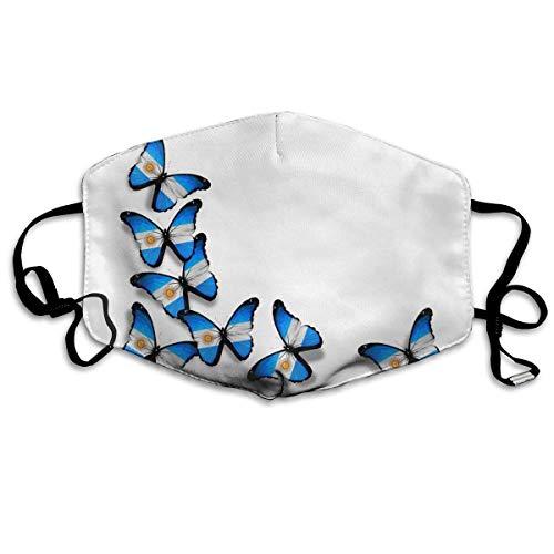 tiv: Argentinische Flagge, Schmetterling, waschbar, wiederverwendbar, Mund ()