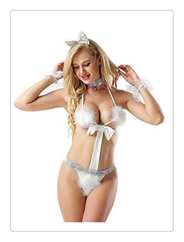 Kaninchenschwanz Haarspange Lolita Schürze süße Glocke Fliege Mädchen Kostüm Kleid Halloween Zubehör ()
