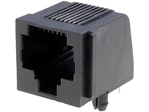 RJ45G-AMP Socket RJ45 PIN8 with panel stop blockade Pin layout8p8c 5520251-4