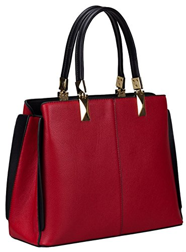Kukubird Spencer Semi Ecopelle Cornered Wing Design Shoulder Bag Fuchsia