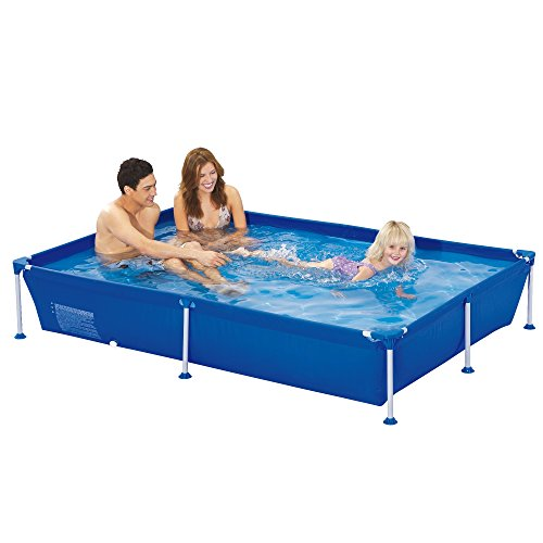 Jilong Familien Pool Blau 188x127x42 Stahlrahmen Schwimmbecken Garten Schwimmbad Planschbecken
