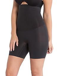 Faja moldeadora de Spanx con súper control de adelgazamiento «Forma mi día», con cintura alta y a medio de muslo (Color negro o natural)