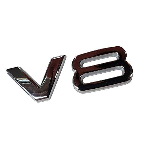 Ctronic ala parafango anteriore posteriore cromata lucida bagagliaio di logo emblema adesivo adesivo V8HB4R4
