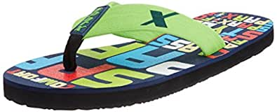 Sparx Men's Blue and Green Vinyl Flip-Flops and House Slippers - 9 UK (SF2017G)