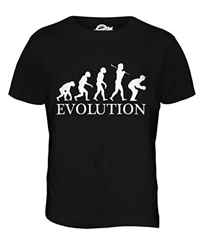 CandyMix Cricket Wicket Keeper Evolution Des Menschen Herren T Shirt Schwarz