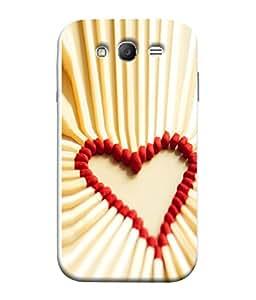 PrintVisa Matchstick Love 3D Hard Polycarbonate Designer Back Case Cover for Samsung Galaxy Grand Neo Plus I9060I :: Samsung Galaxy Grand Neo+