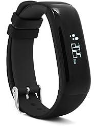 Kivors®Blutdruck Armband Fitness Tracker, Sport Schrittzähler Activity Tracker Watch Connected Monitor Blutdruck Pulse Frequenz Monitor Sleep Activity Monitor für iPhone iOS Android, Rot