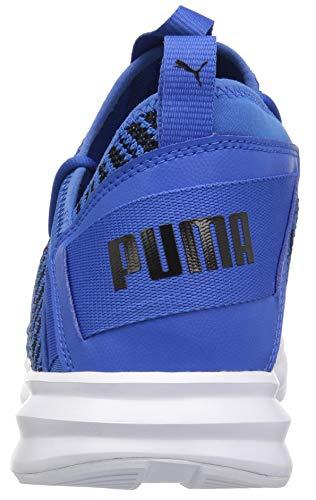PUMA Men s Enzo Peak Sneaker  Strong Blue Black  10 5 M US