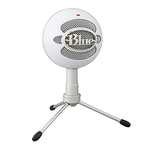 Blue Microphones Snowball iCE USB Microphone for Recording and Streaming on PC and Mac, Cardioid Condenser Capsule, Adjustable Stand, Plug and Play - White