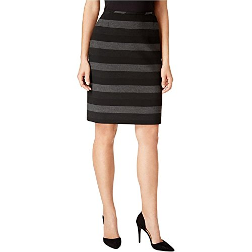 Tahari Womens Petites Striped Knit Pencil Skirt (Rock Tahari Petite)
