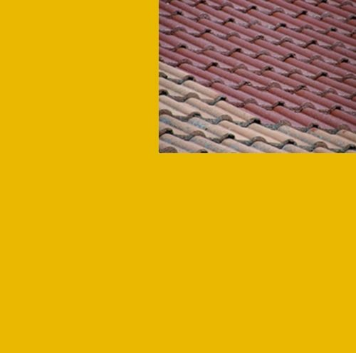 1L Ziegelfarbe Dachfarbe Dachbeschichtung Dachversiegelung in Rapsgelb Dachrenovierung Metalldach Blechdach Flachdach Farbe Beschichtung Anstrich Ziegel Dach