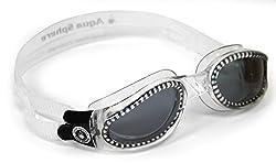 Aqua Sphere Kaiman Swim Goggle (Regular, Tinted Lens/Transparent Frame)