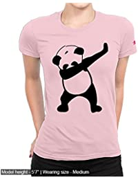 Graphic Printed T-Shirt For Women | Half Sleeve Women's T-Shirt | Dab Panda T-Shirt | Women's Top | Round Neck...
