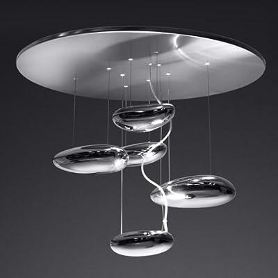 Artemide - Mercury Mini Soffitto Halo - Inox-Stahl von Artemide auf Lampenhans.de