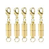 Homyl 5 Satz Magnet Halsketten Verschluss Kettenverschluss Magnetverschluss Gold 5.5mm