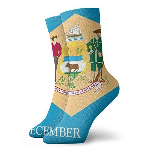 Funny Colourful Flag Of Delaware Mannschaftssocken Outdoor Socks For Unisex boot socks - Delaware Indoor Flag