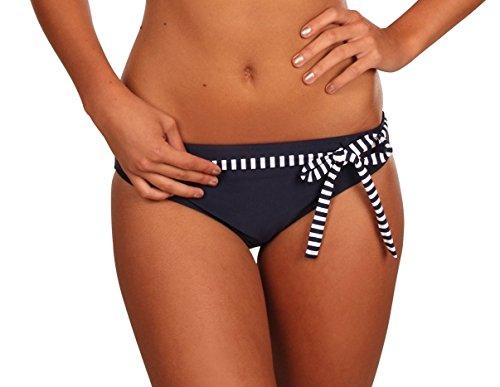 eleMar Frauen Bikini -Unterteil Pazifik/Pazifik-Weiß