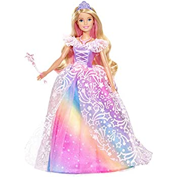Barbie Gfl82 Dreamtopia Sparkle Mermaid Doll With Swimming Motion And Underwater Light Shows Approximately 12 Inch With Pink Streaked Blonde