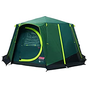 Coleman Tent Octagon Blackout, 6 to 8 Man Festival Dome Tent, Waterproof Family Camping Tent with Sewn-in Groundsheet